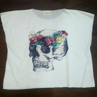 Skull Cropped Top