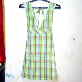 Dress Hijau Kotak