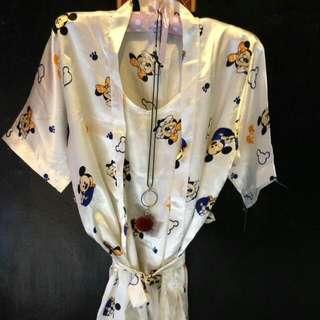 Kimono Set 2in1 Dapat Dress Dan Baju Hangatnya all Size