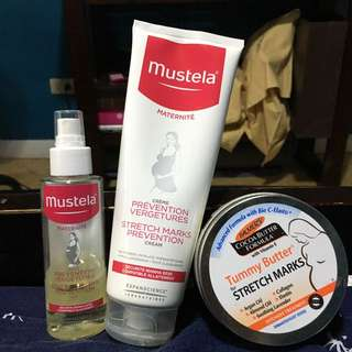 Mustela Stretch mark Prevention Lotion And Oil With Palmers Tummy Butter