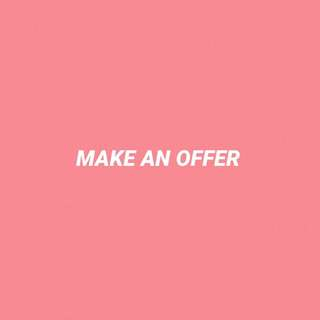 offers on any items will be considered