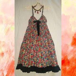 Spaghetti Floral Dress