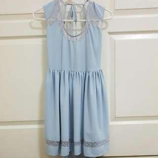 CUTE BABY BLUE DRESS