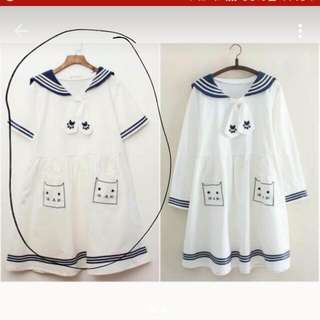 BN Cat Sailor Dress