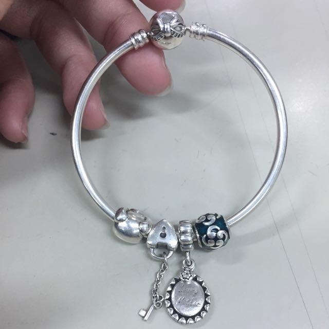 潘朵拉硬環17cm加四顆珠珠