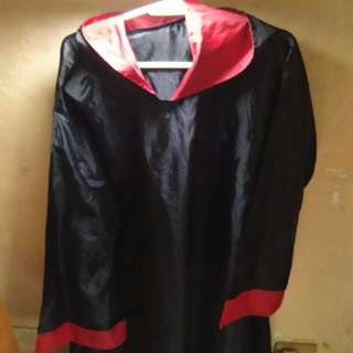 Costume Black long Robe For Plays