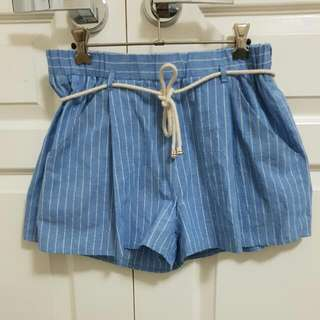 Blue Stripe Shorts