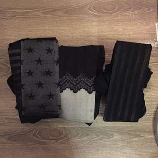 全新✨造型絲襪(不對稱/蕾絲/條紋)