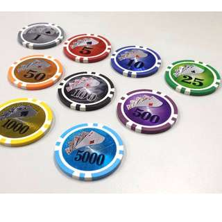 500Pcs Hologram Poker Chips Price neg