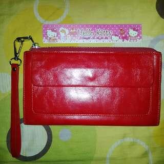 RED Long Wristlet Wallet
