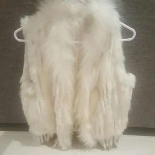 Faux White Fur Vest