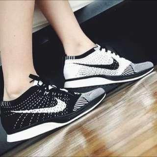 Nike Flyknit Racer 黑白陰陽太極