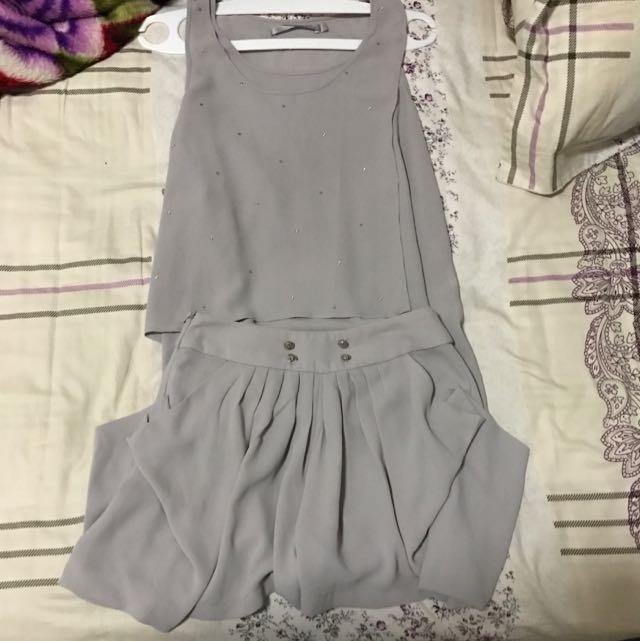1 set simple shirt and short
