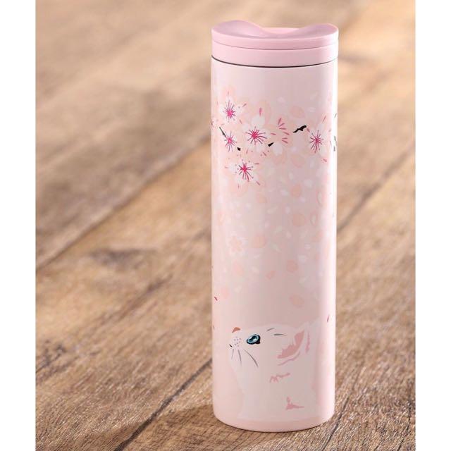 2017 星巴克 Starbucks x Paul & Joe 貓咪 不鏽鋼 瓶 保溫瓶 粉嫩 櫻花 限量