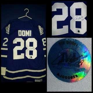 Tie Domi Signed Leafs Jersey w/Coa
