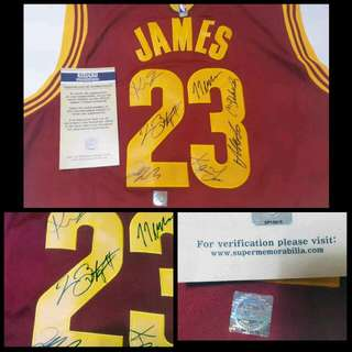 Cleveland Cavaliers NBA Final Jersey Signed