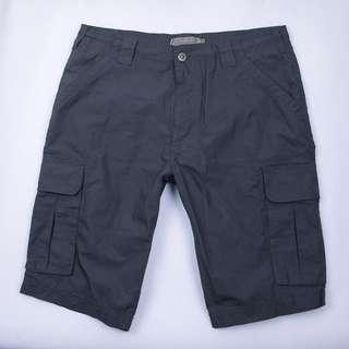 Dark grey short, thin cotton