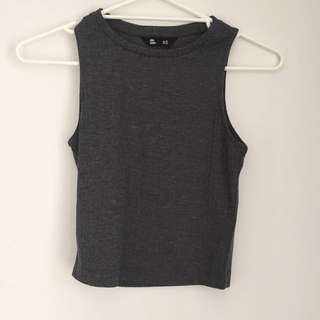 Grey Singlet / Crop Top