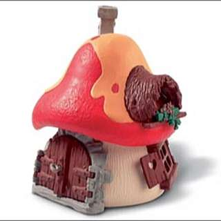 Smurf Collection: Large Mushroom House With Orange Roof