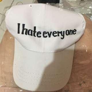 i hate everyone baseball cap