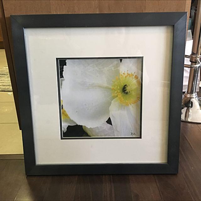 "23""x23"" Beautiful Artwork With Grey Frame"