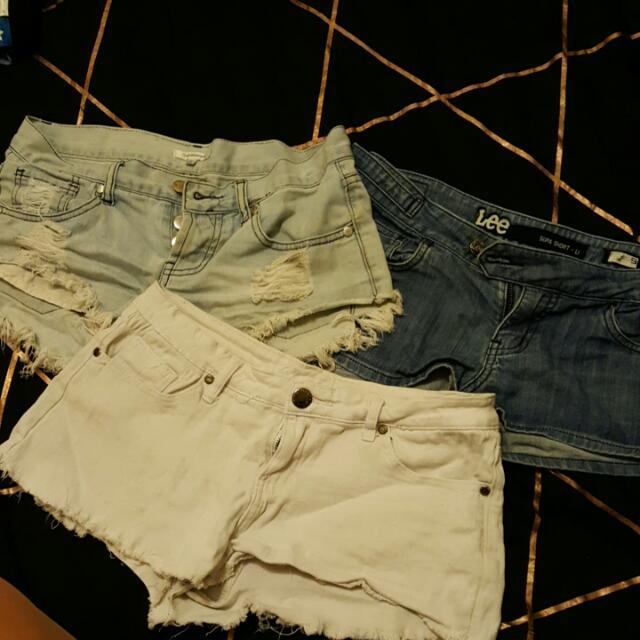 3 X Shorts Bundle. Size 8 - 10