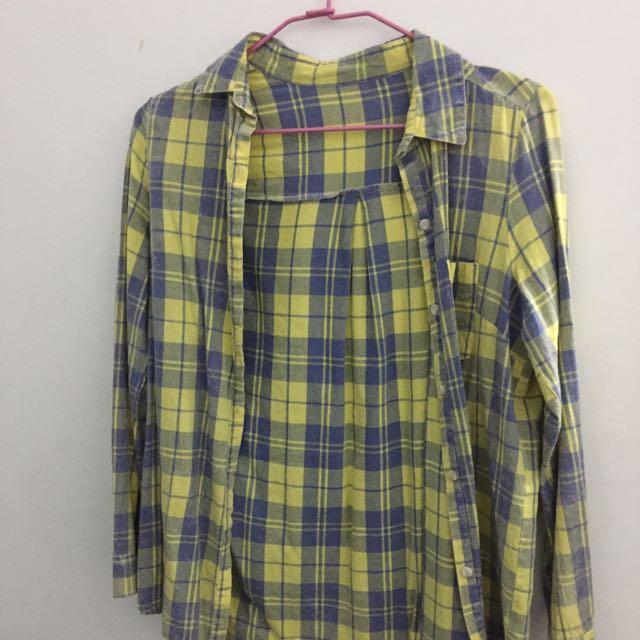 黃藍格子衫