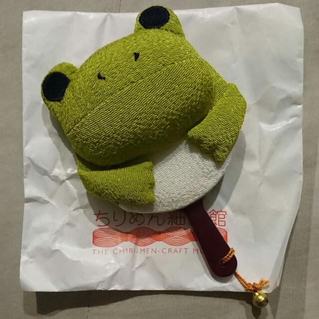 日本購入-超可愛布製青蛙隨身鏡