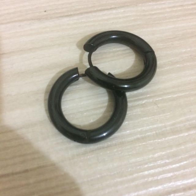 二手 小圈圈耳環 鋼