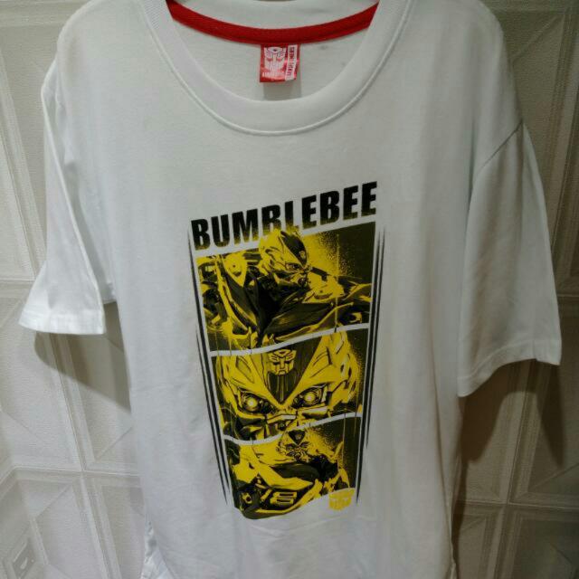 專利雷射正版 變型金剛 Transformers T恤 白色 L Stain 純棉 透氣吸汗好穿