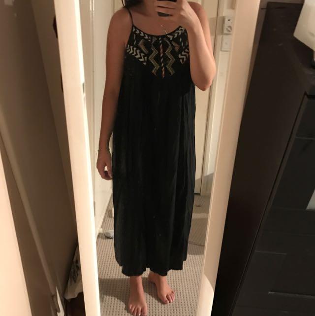 Angel Biba Black Maxi Dress