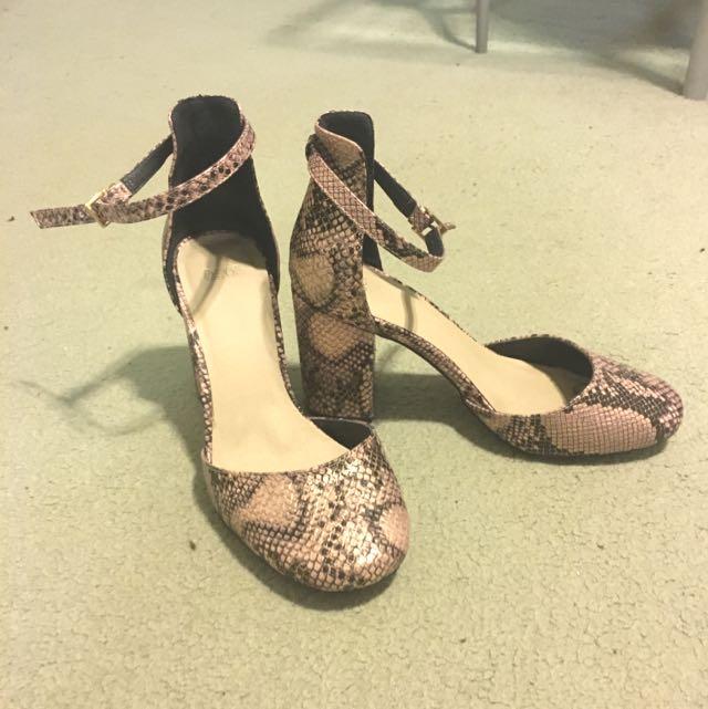 ASOS Snakeskin Pattern Heels