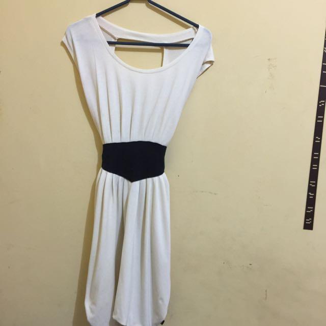 Backless Half White Dress