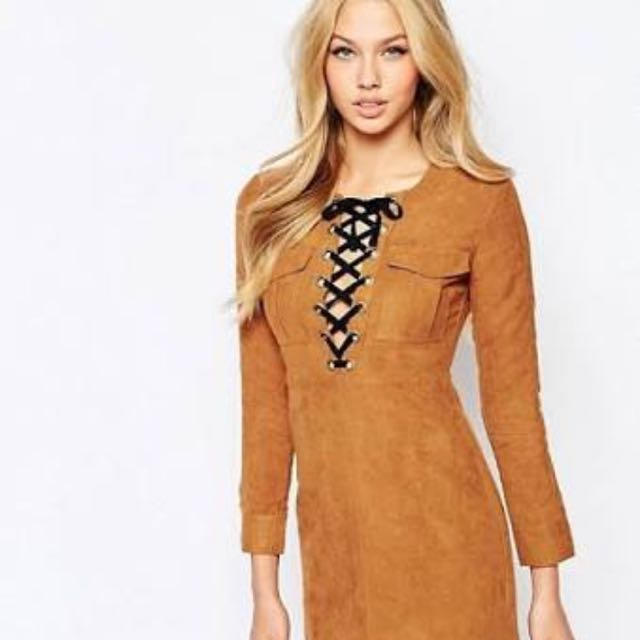 Bardot Suede Dress