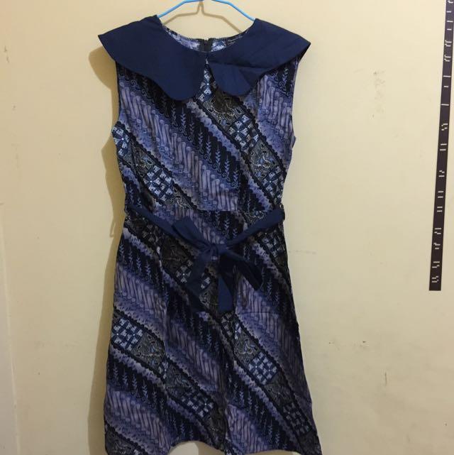 Batik Dress Blue