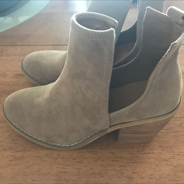 Beige Ladies Boots