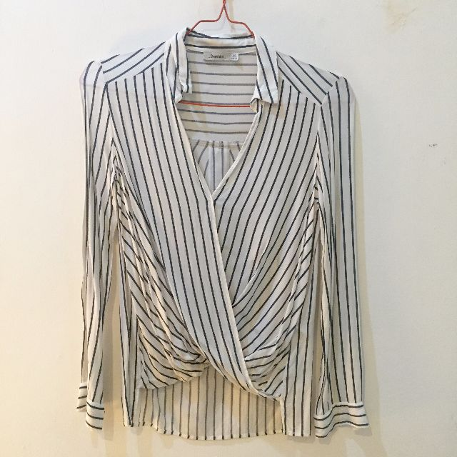 Bershka Striped Longsleeve Blouse size XS