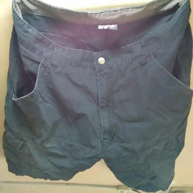 Black Ragged Shorts