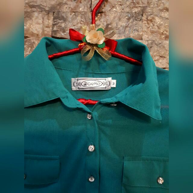Blue Green Calypso Blouse