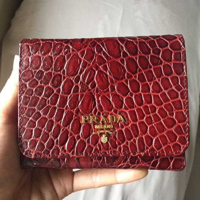e212a5c1968829 Brand New Prada Trifold Short Leather Wallet, Luxury, Bags & Wallets ...