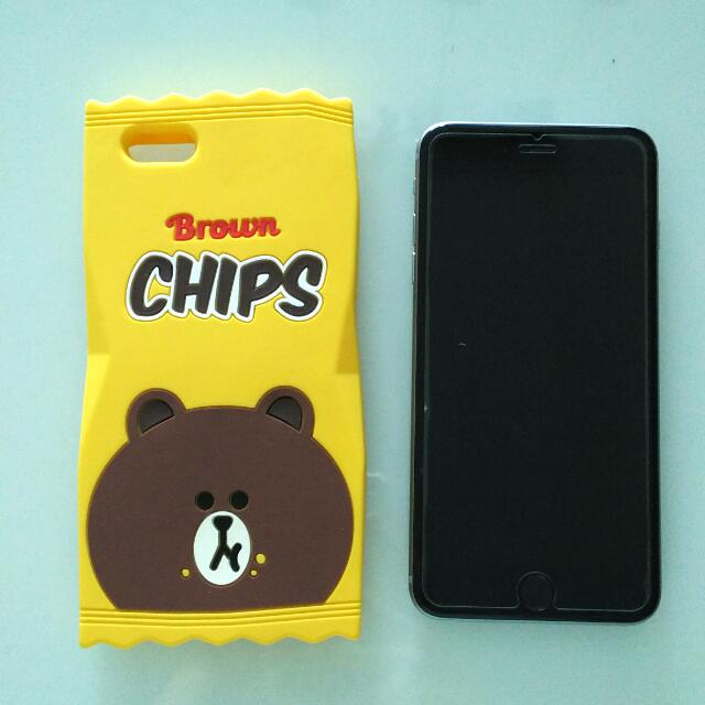 Brown chips iPhone 6 Plus Case