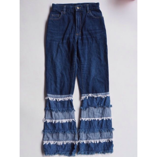 celana jeans etnik