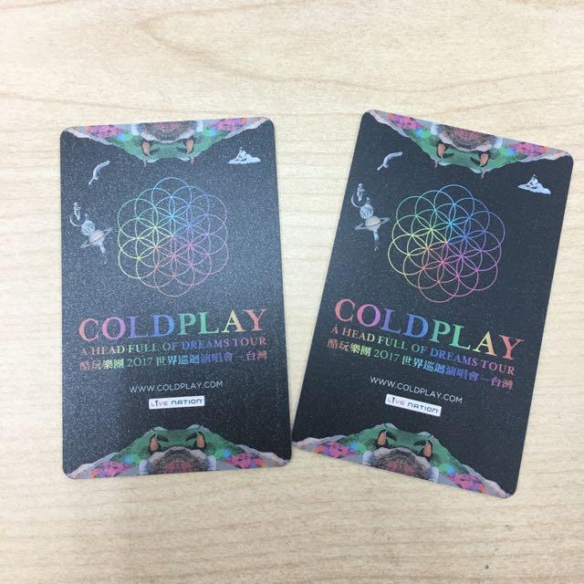 Coldplay 世界巡迴演唱會票 4/11台灣