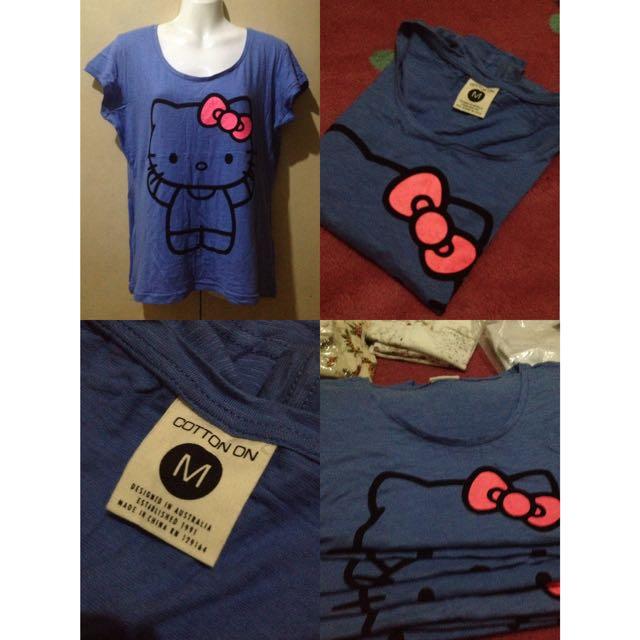 Cotton On Blouse (Hello Kitty Print)