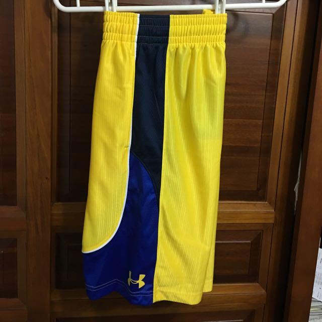 (含運)Curry SC 12吋球褲 藍黃配色