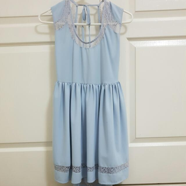 CUTE BABY BLUE DRESS