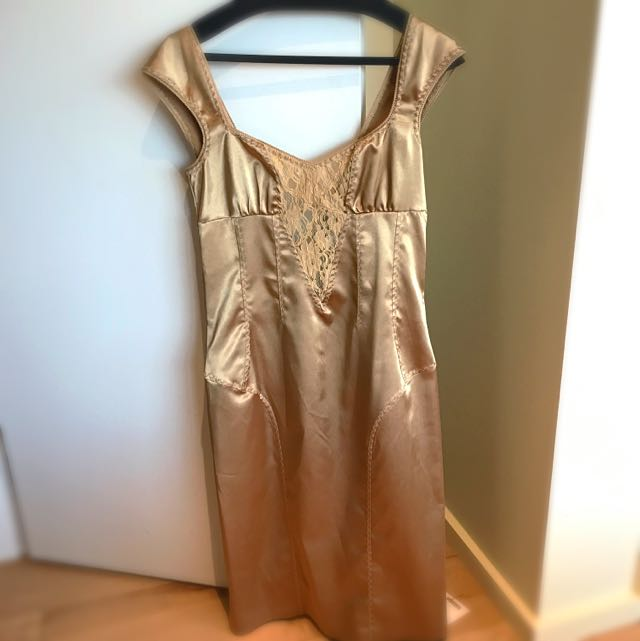 Dolce & Gabbana Gold Vintage Dress