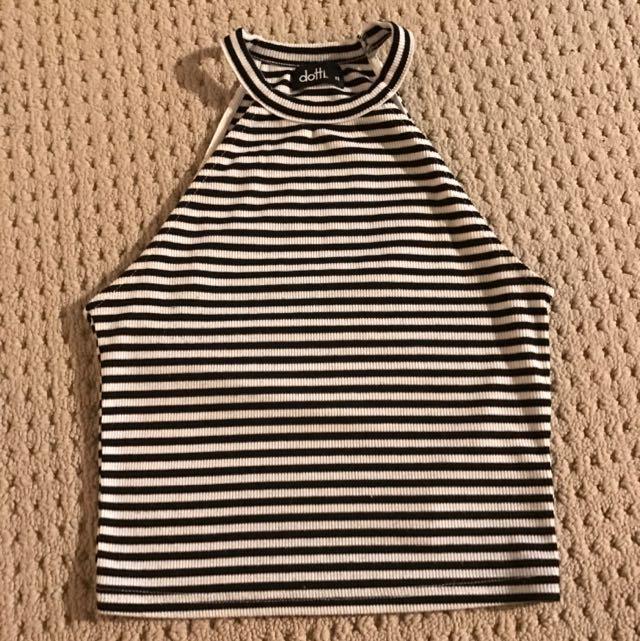 Dotti Striped Crop