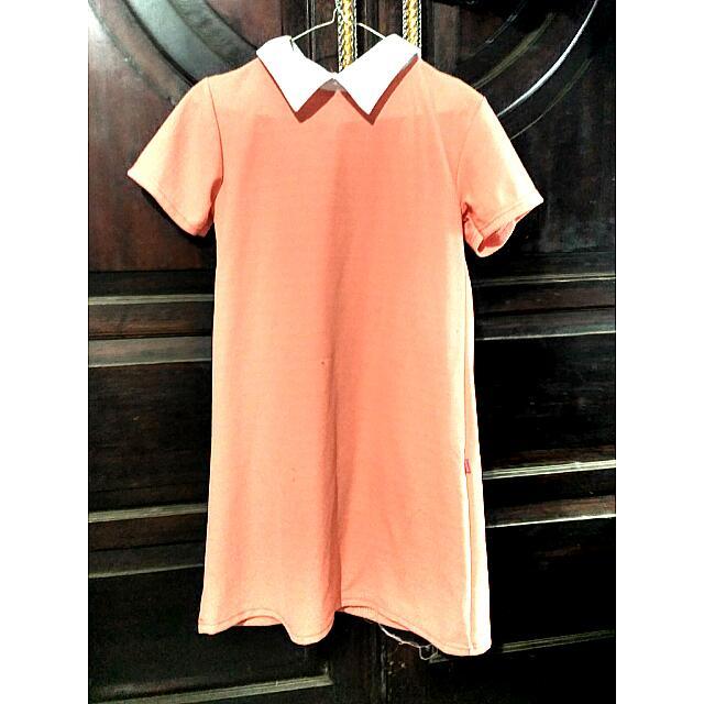 Dress Peach Wanita