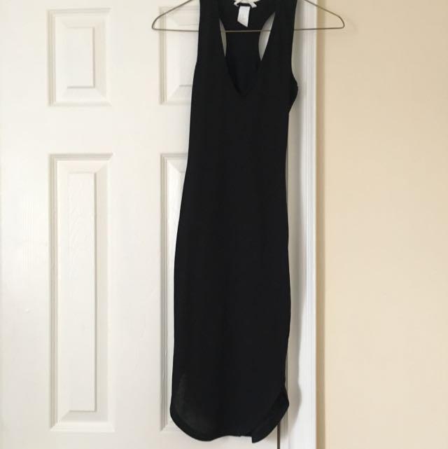 F21 Bodycon Black Dress